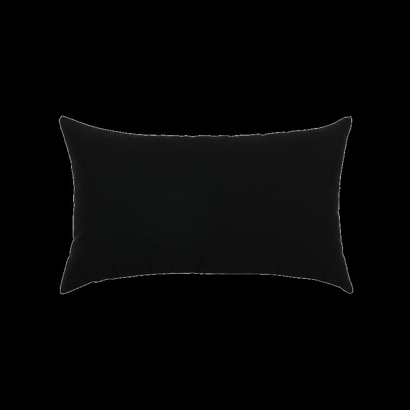 Canvas Black Essentials Lumbar Pillow