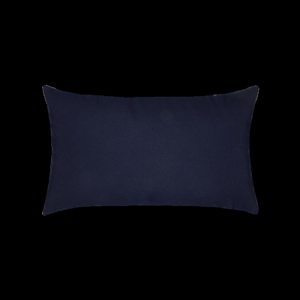 Canvas Navy Essentials Lumbar Pillow