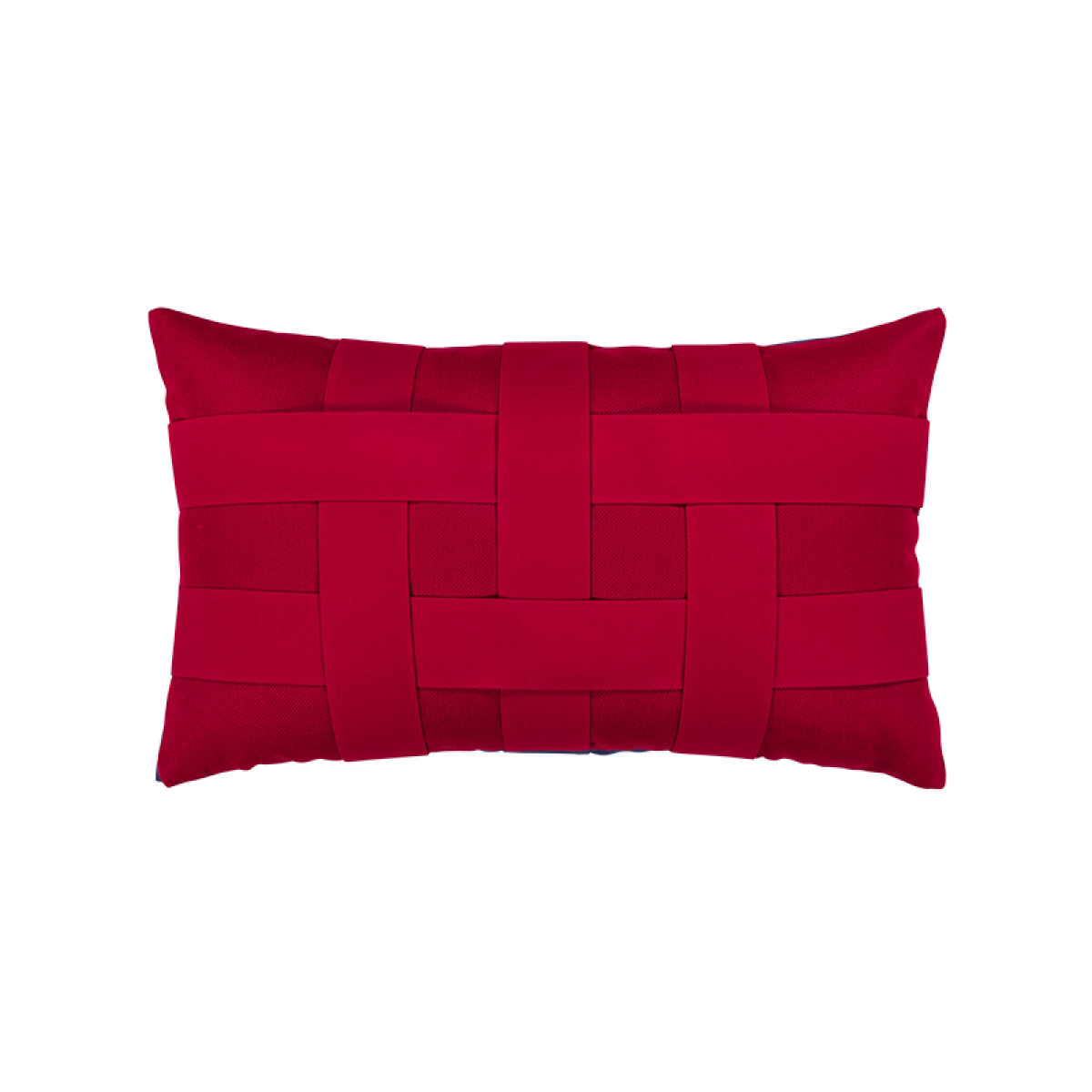 Basketweave Rouge Lumbar