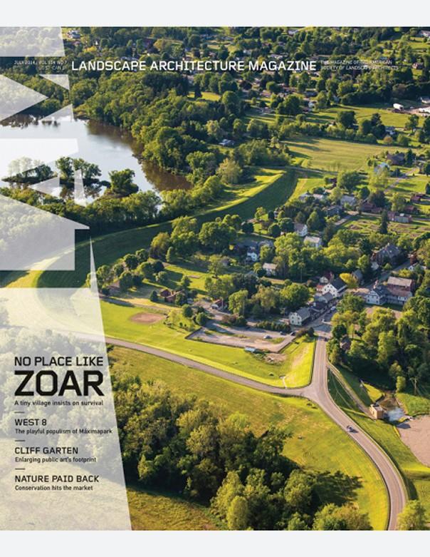 Landscape Architecture Magazine, July 2014