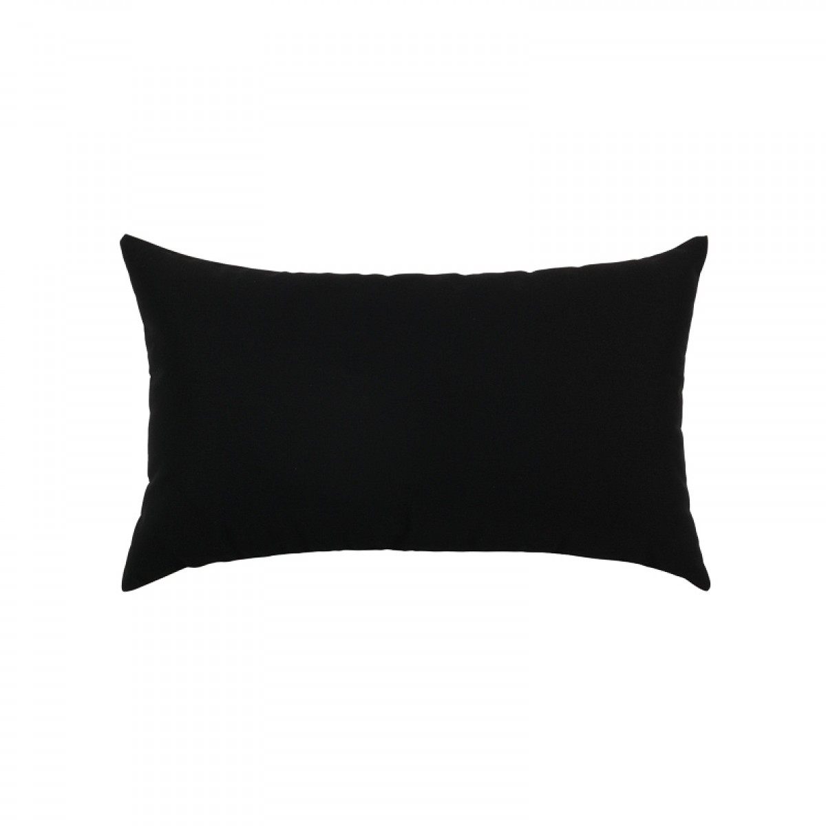 Back of Canvas Black Essentials Lumbar Pillow