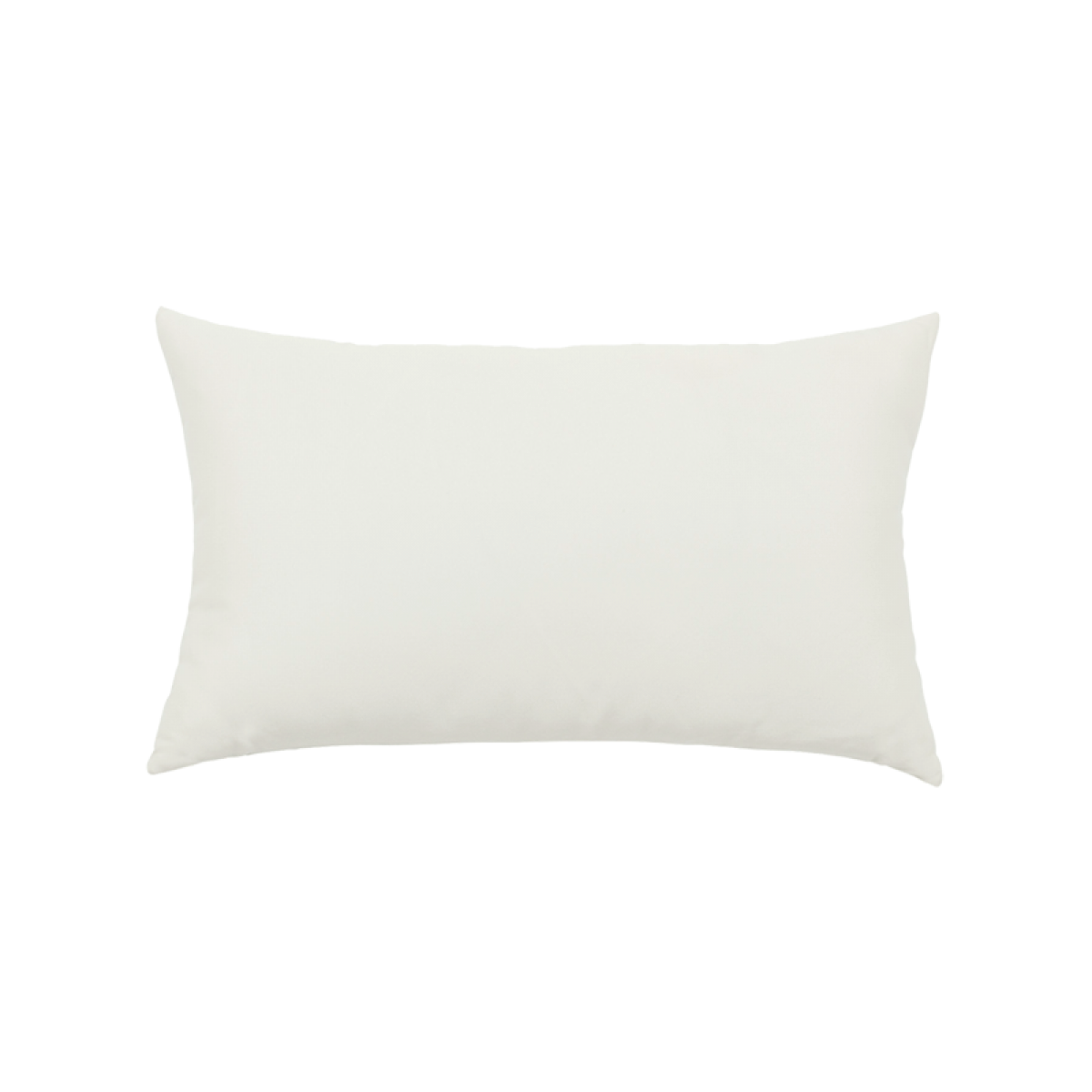 Back of Canvas White Essentials Lumbar Pillow