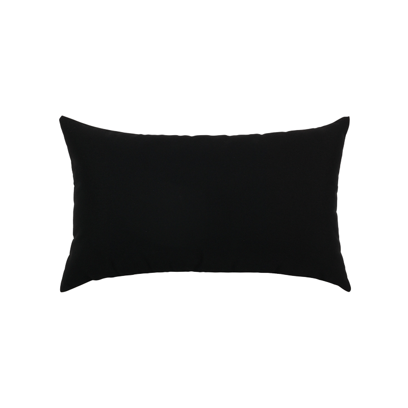 Canvas Black Essentials Lumbar Pillow