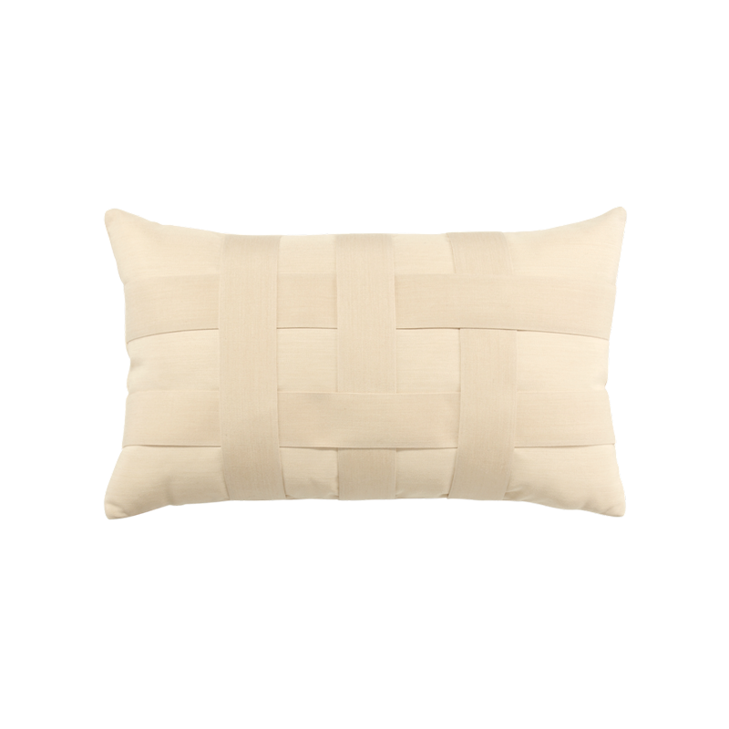 Basketweave Ivory Lumbar - SALE 30% off - Limited Quantities Available