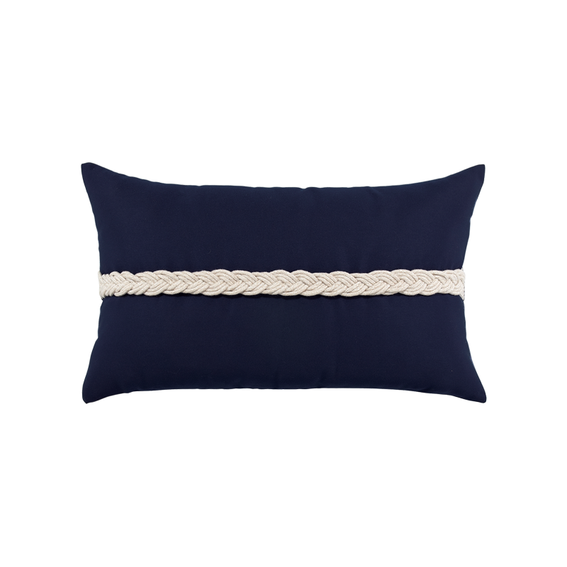 Navy Braided Lumbar - SALE 35% off - Limited Quantities Available
