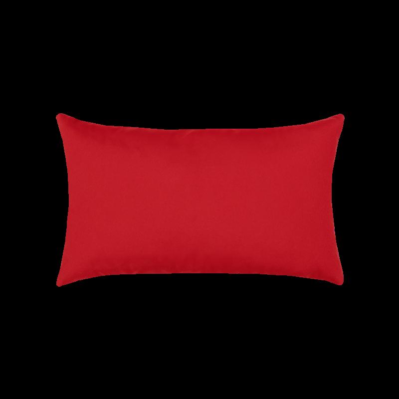 Canvas Logo Red Essentials Lumbar Pillow