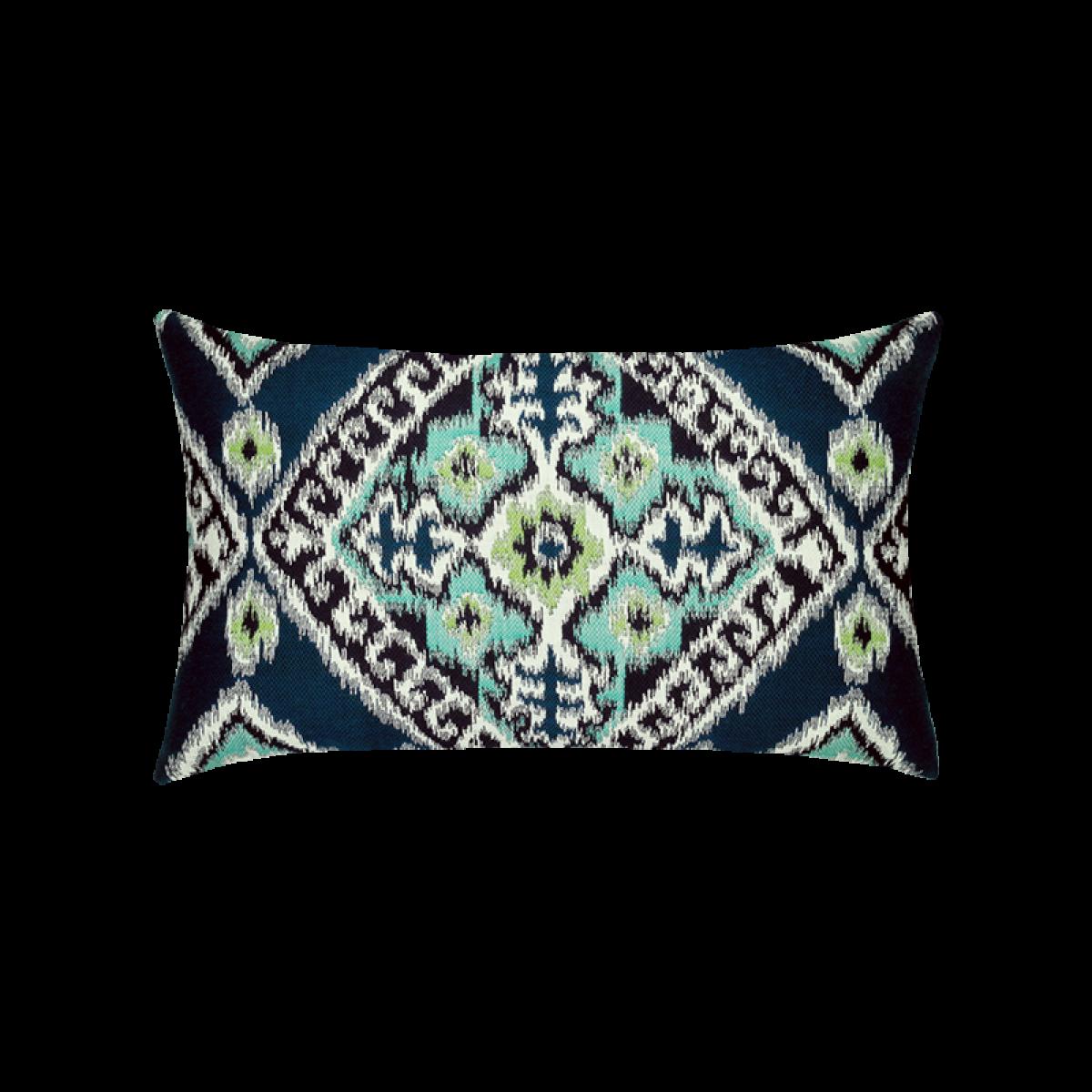 Ikat Diamond Peacock Lumbar