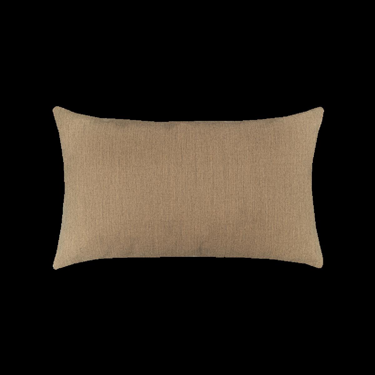 Canvas Heather Beige Essentials Lumbar Pillow