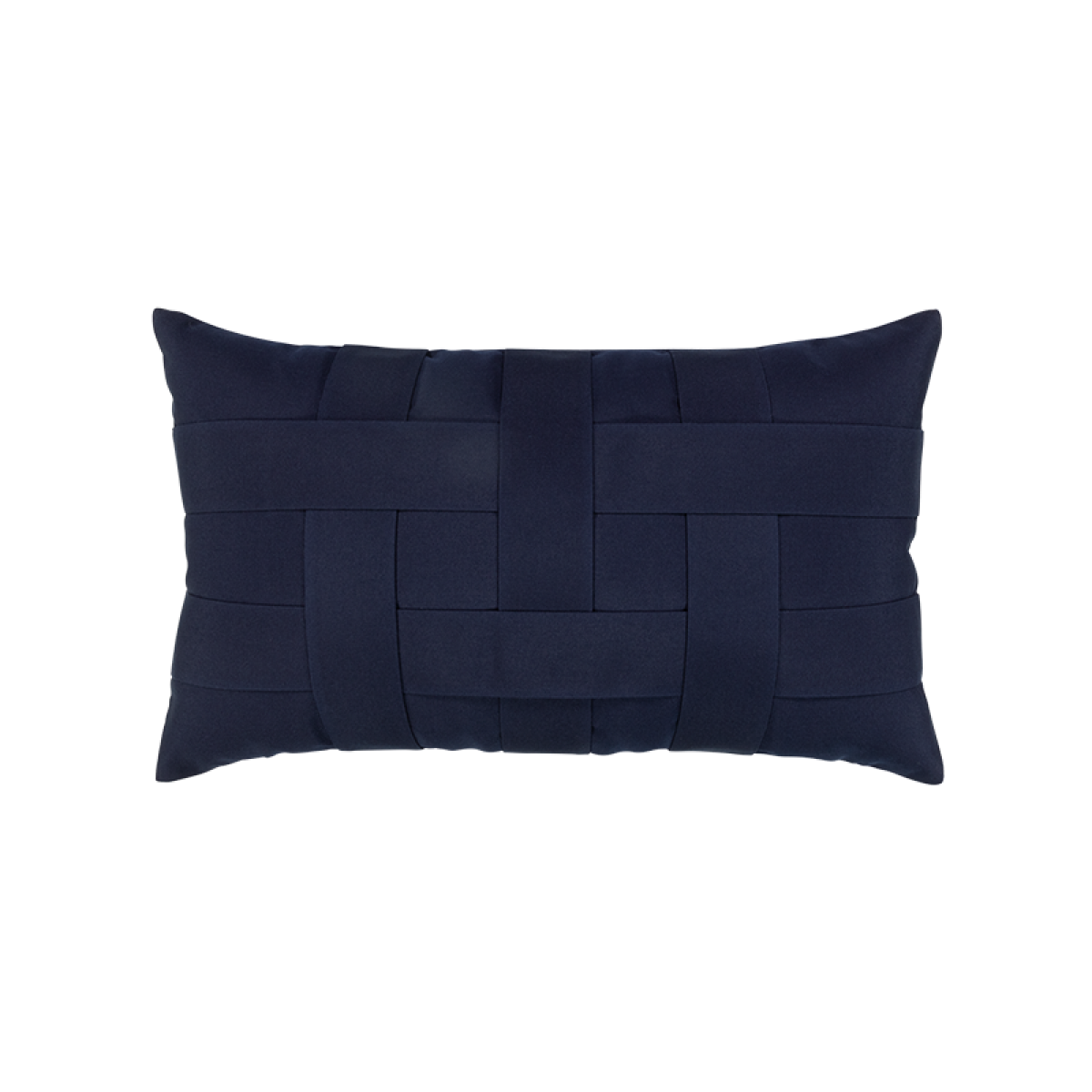Basketweave Navy Lumbar