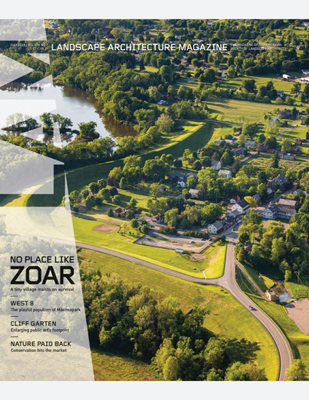 Landscape Architecture Magazine, July 2014